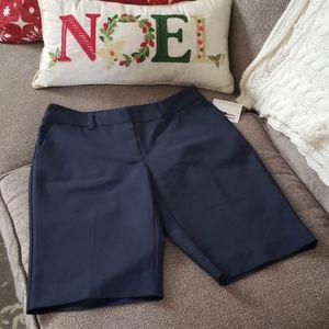 Ellen Tracy Admiral Blue Bermuda Shorts